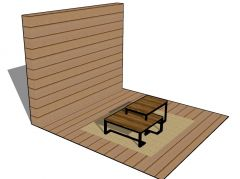 gazebo table top design with a simple look 3d model .skp format