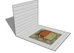 Modern designed glass table top for gazebo 3d mdoel .skp format