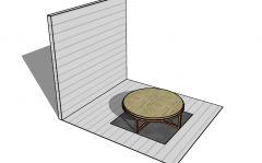 Large scale gazebo table top designed 3d model .skp format