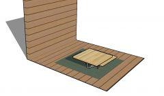 Medium sized gazebo table top design 3d model .skp format
