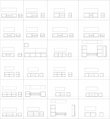 TV units CAD collection DWG blocks