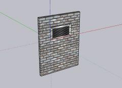 medium designed ventilation with a simple look 3d model .skp format