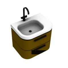 wash basin design with two drawers 3d model .3dm format