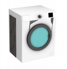 white shaded washing machine 3d model .3dm format