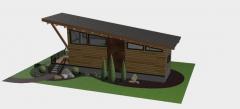 WEDGE HOUSE SKP MODELL
