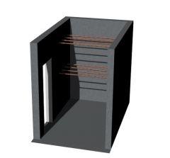 large sized modern looking wine cellar 3d model .3dm format