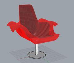 Wooden chair 3dm model