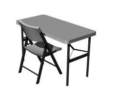 Simple designed small writing desk 3d model .3dm fromat